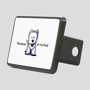 Westie Heartbeat Rectangular Hitch Cover