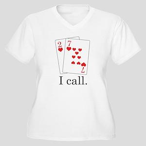 Poker Shirt Women's Plus Size V-Neck T-Shirt