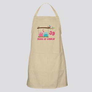 39th Anniversary Owl Couple Apron