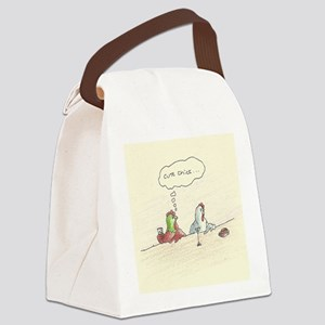 Cute Chick Canvas Lunch Bag