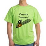 Castrate Spammers Green T-Shirt