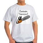 Castrate Spammers Ash Grey T-Shirt