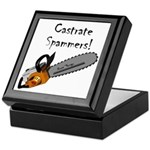 Castrate Spammers Keepsake Box