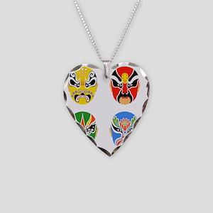 Peking Opera Hualian Necklace Heart Charm