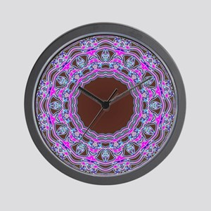 In The Pink Colorfoil Bandanna Kaleido Wall Clock