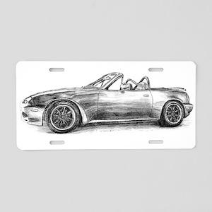 silver shadow mx5 Aluminum License Plate