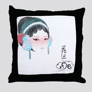 Peking Opera Huadan Throw Pillow