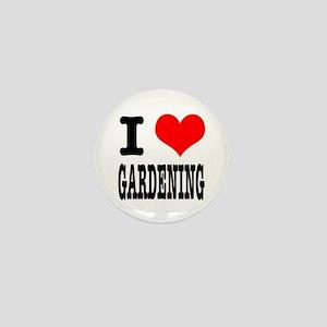 I Heart (Love) Gardening Mini Button
