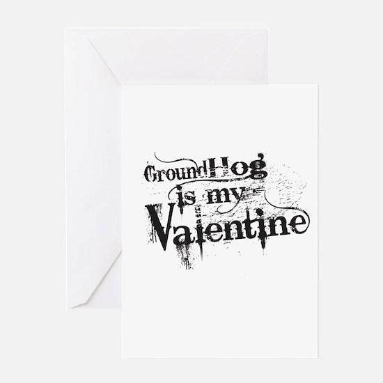 Ground Hog is My Valentine Greeting Cards
