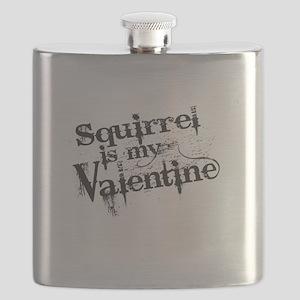 Squirrel is My Valentine Flask