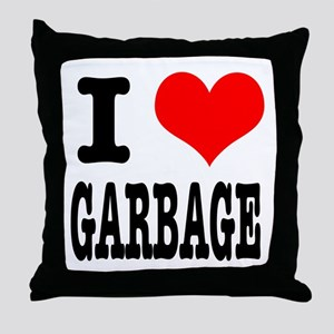 I Heart (Love) Garbage Throw Pillow