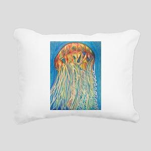 Jelly Fish Rectangular Canvas Pillow