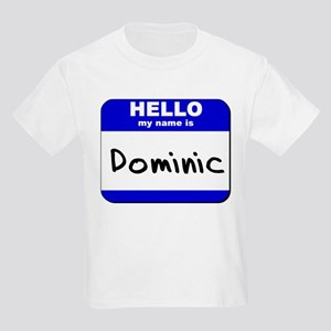 hello my name is dominic Kids Light T-Shirt