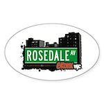 Rosedale Av, Bronx, NYC Oval Sticker