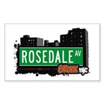Rosedale Av, Bronx, NYC Rectangle Sticker