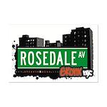 Rosedale Av, Bronx, NYC Mini Poster Print
