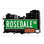 Rosedale Av, Bronx, NYC Large Poster
