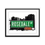 Rosedale Av, Bronx, NYC Framed Panel Print