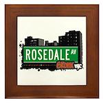 Rosedale Av, Bronx, NYC Framed Tile