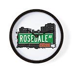 Rosedale Av, Bronx, NYC Wall Clock