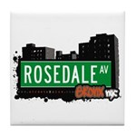 Rosedale Av, Bronx, NYC Tile Coaster