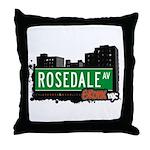 Rosedale Av, Bronx, NYC Throw Pillow