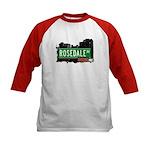 Rosedale Av, Bronx, NYC Kids Baseball Jersey