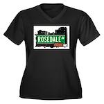 Rosedale Av, Bronx, NYC Women's Plus Size V-Neck D