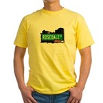 Rosedale Av, Bronx, NYC Yellow T-Shirt