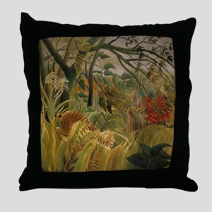 Jungle Tiger Throw Pillow