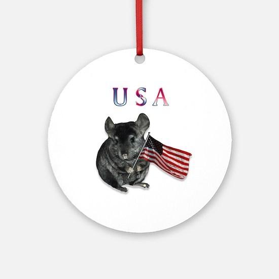 Chin USA Ornament (Round)