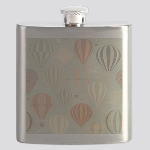 Vintage Hot Air Balloons Flask