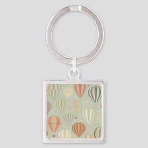 Vintage Hot Air Balloons Square Keychain