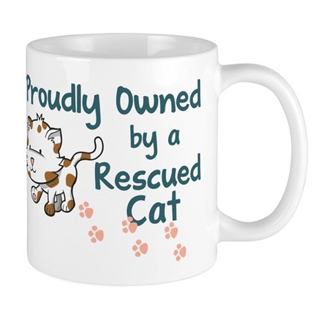 Proudly Owned (Cat) Mugs