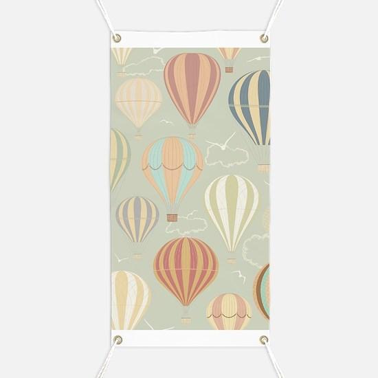 Vintage Hot Air Balloons Banner