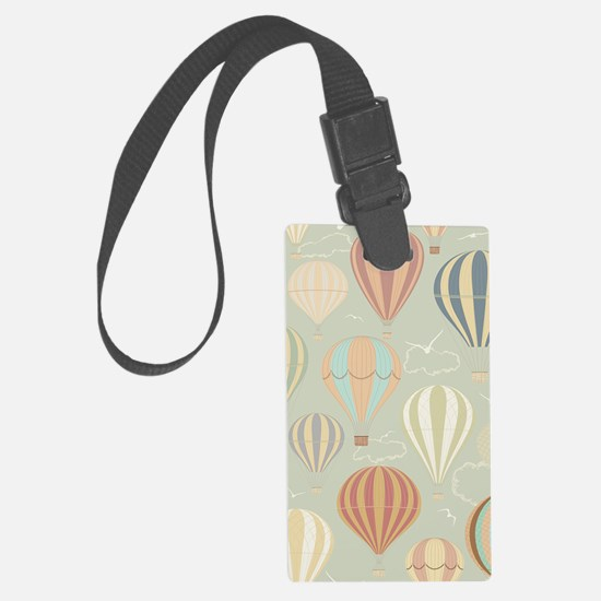 Vintage Hot Air Balloons Large Luggage Tag