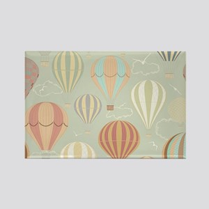 Vintage Hot Air Balloons Rectangle Magnet