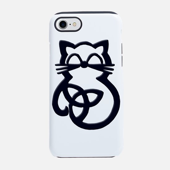 Black Trinity Knot Celtic Cat iPhone 7 Tough Case