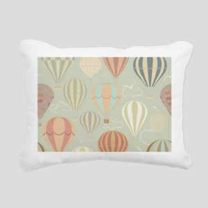 Vintage Hot Air Balloons Rectangular Canvas Pillow