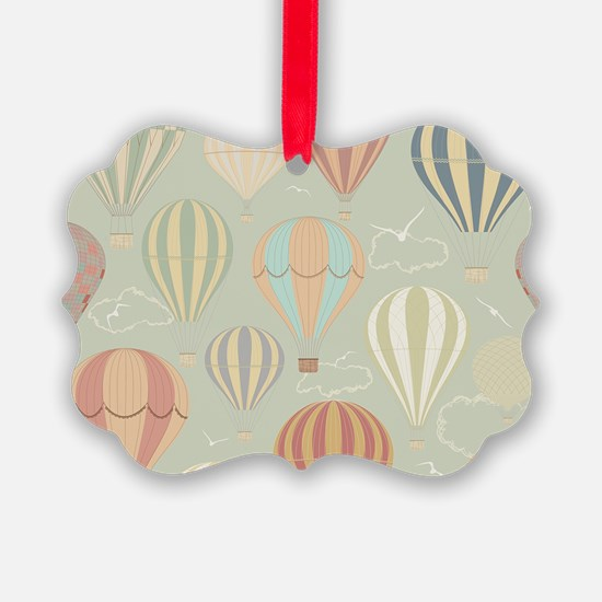 Vintage Hot Air Balloons Ornament