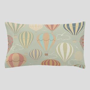 Vintage Hot Air Balloons Pillow Case