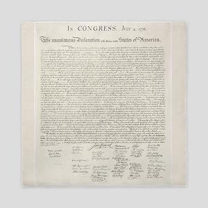 US Declaration Independence Queen Duvet