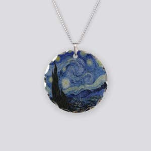 The Starry Night Necklace Circle Charm