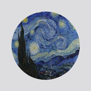 """The Starry Night 3.5"""" Button"""