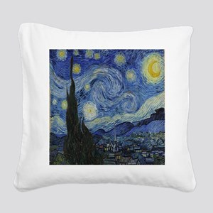 The Starry Night Square Canvas Pillow