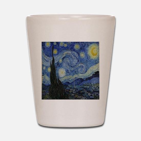 The Starry Night Shot Glass