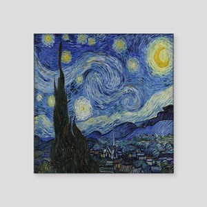 "The Starry Night Square Sticker 3"" x 3"""