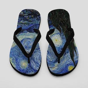 The Starry Night Flip Flops