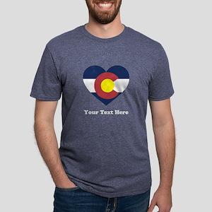 Colorado Flag Heart Persona Mens Tri-blend T-Shirt