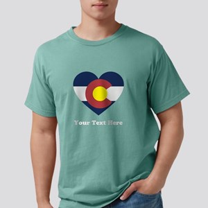 Colorado Flag Heart Pers Mens Comfort Colors Shirt